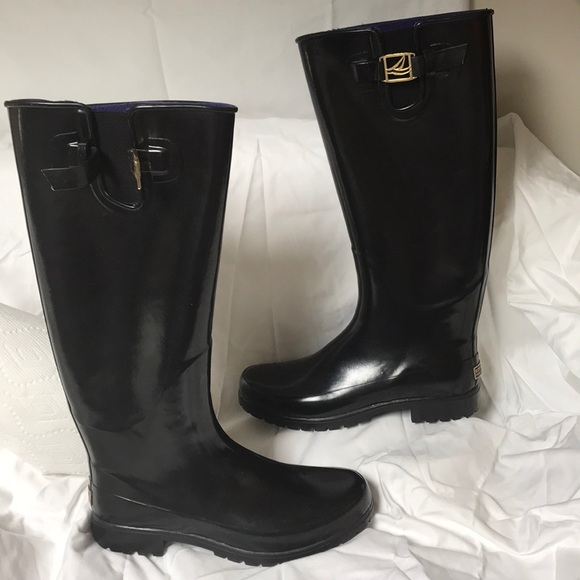 Sperry Topsider Tall Rain Boots Size 8